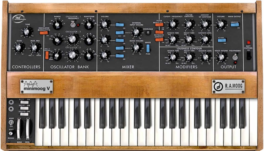 Minimoog V Software