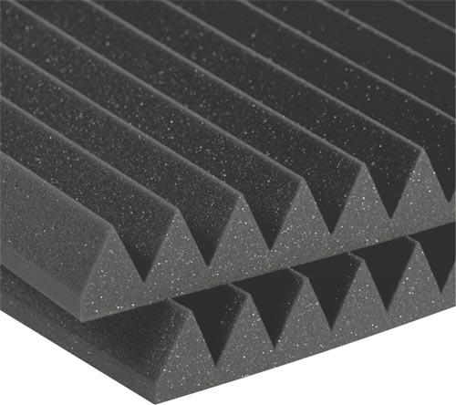 Auralex Studiofoam Wedge - Twelve 2 Inch, 2x2 Foot Panels Charcoal