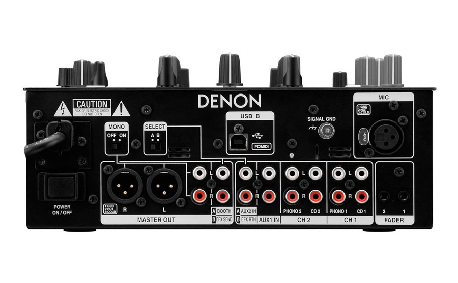Denon DN-X600 Rear View