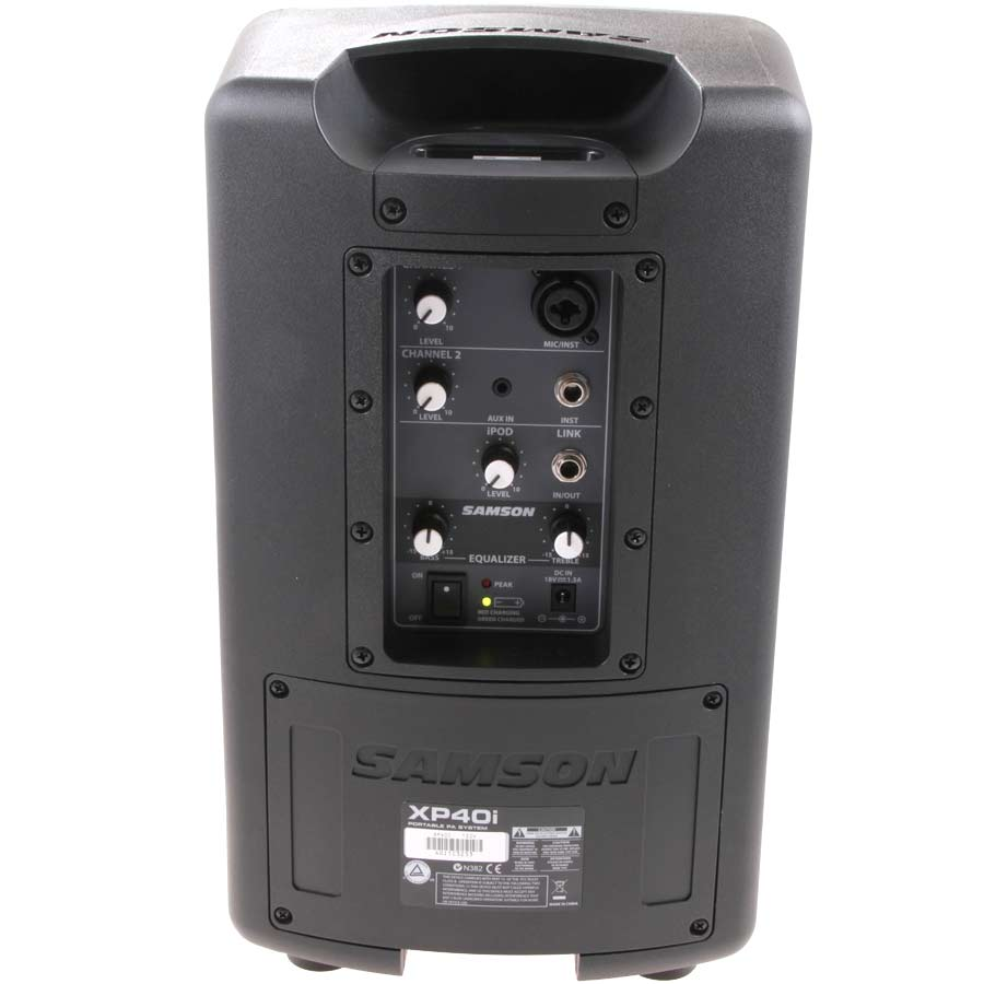 Samson XP40i - Portable PA System Refurbished Rear View