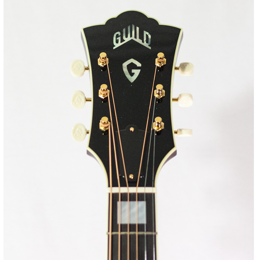Guild Special Run F-40 Macassar Ebony Headstock Detail