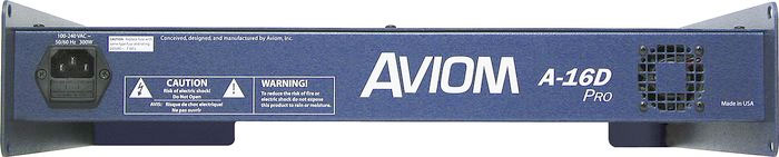 Aviom A-16D Pro Rear View