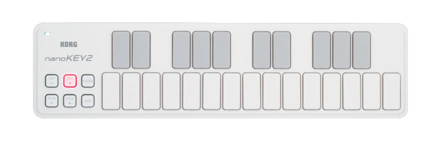 Korg nanoKEY2 - White Top View