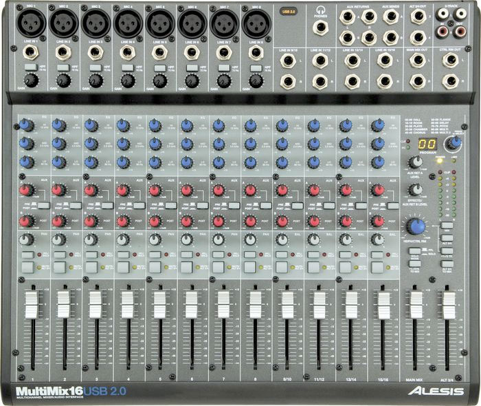 Alesis MultiMix 16 USB 2.0 Top View