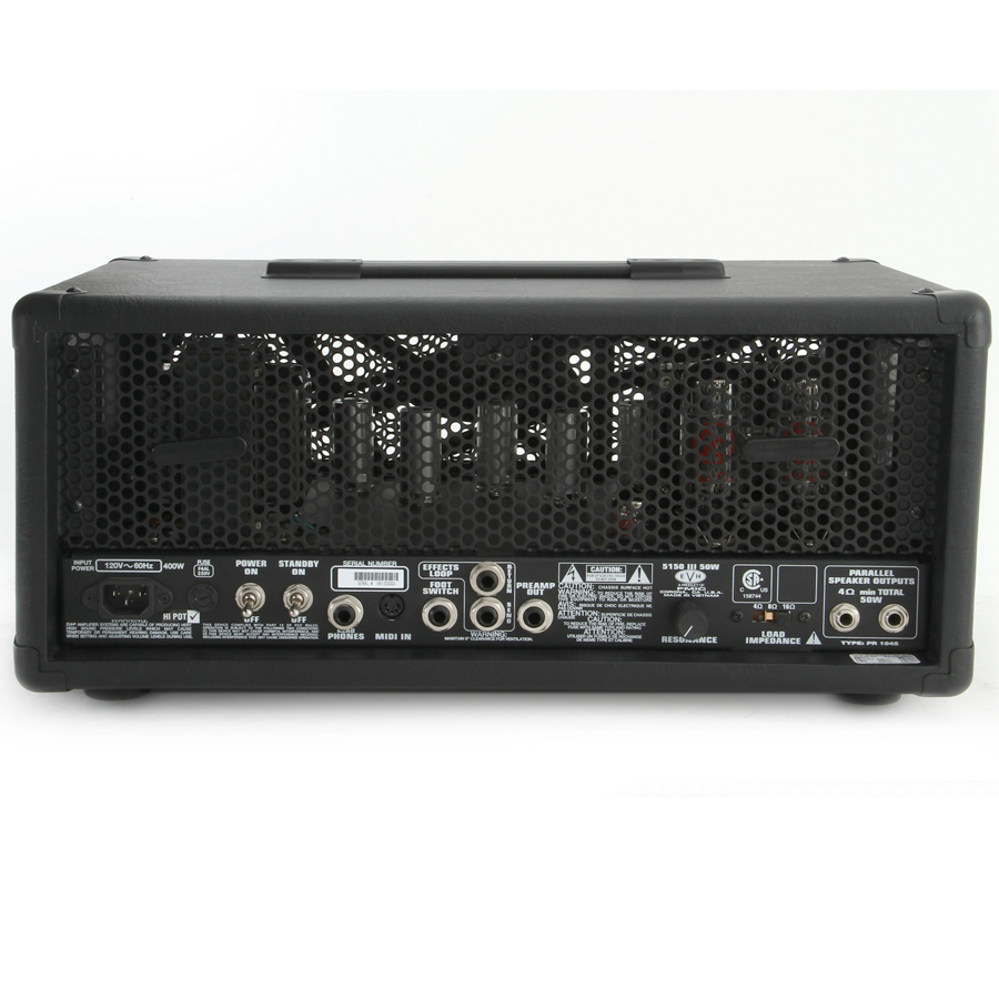 EVH 5150 III 50W Head  Black Demo Rear View