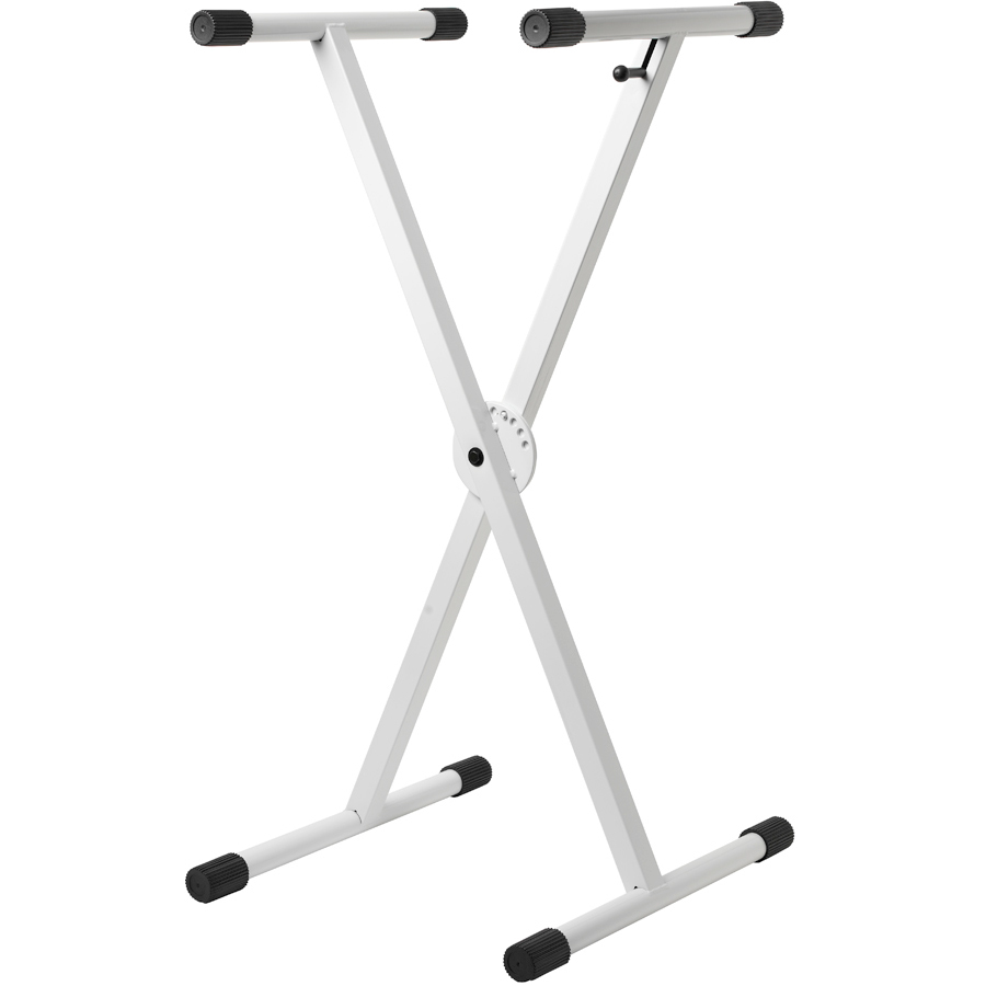 Double X-Brace Keyboard Stand - Gloss White