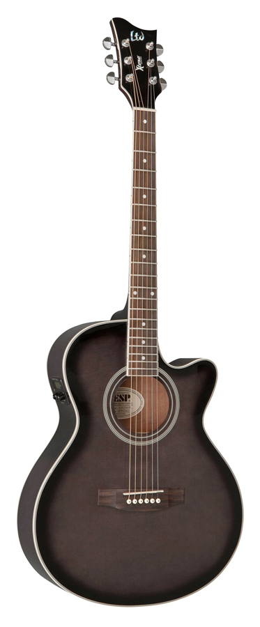 LTD Xtone AC-5E - See Thru Black Sunburst