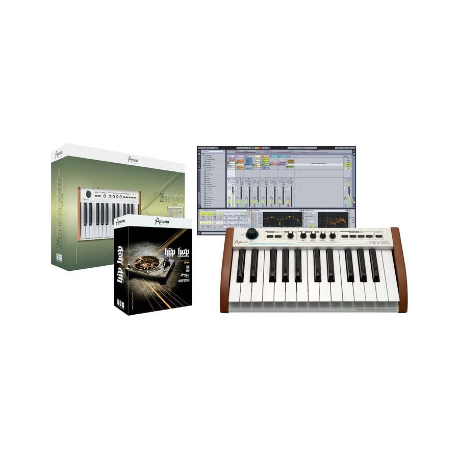 25-Key Keyboard Analog Experience THE PLAYER + Hip Hop Producer Bundle