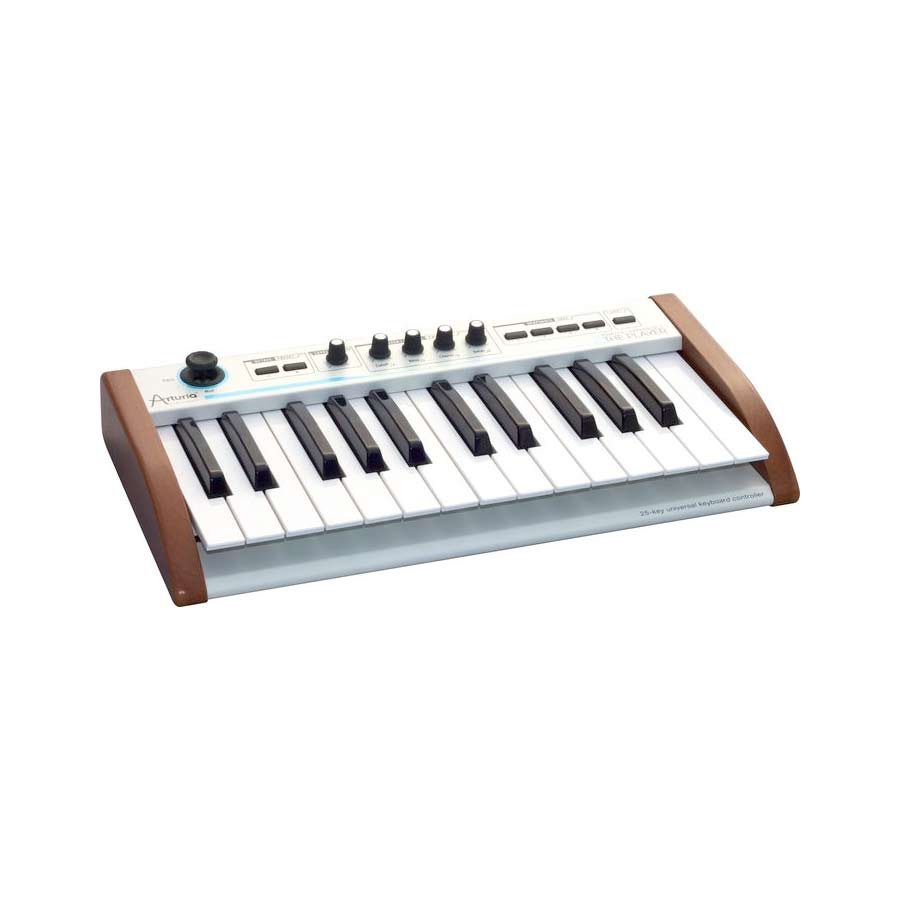Arturia 25-Key Keyboard Analog Experience THE PLAYER + Hip Hop Producer Bundle Angled View