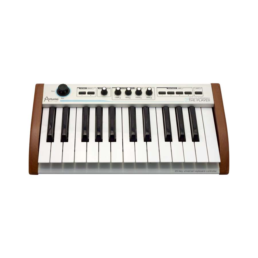 Arturia 25-Key Keyboard Analog Experience THE PLAYER + Hip Hop Producer Bundle Front View
