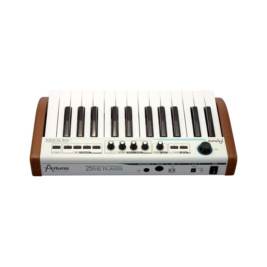 Arturia 25-Key Keyboard Analog Experience THE PLAYER + Hip Hop Producer Bundle Rear View