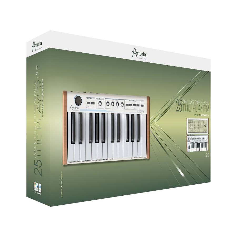Arturia 25-Key Keyboard Analog Experience THE PLAYER + Hip Hop Producer Bundle Player Box