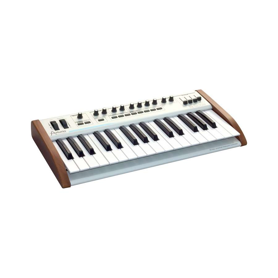 Arturia 25-Key Keyboard Analog Factory Experience + The One Bundle Angled View