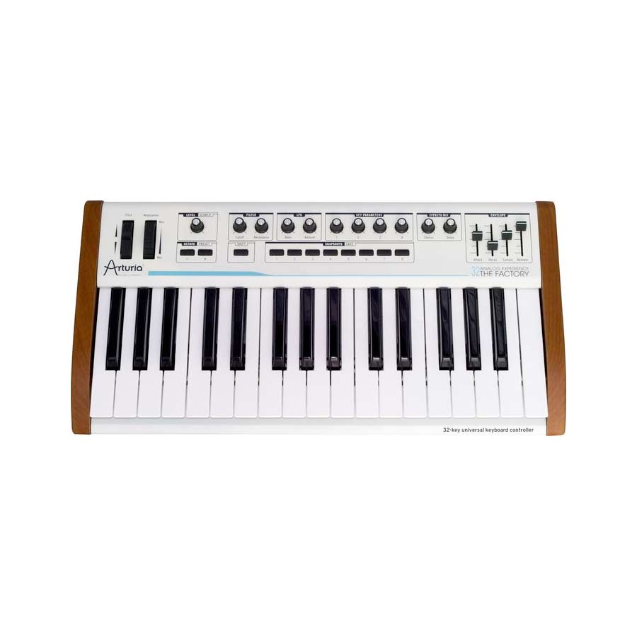 Arturia 25-Key Keyboard Analog Factory Experience + The One Bundle Front View