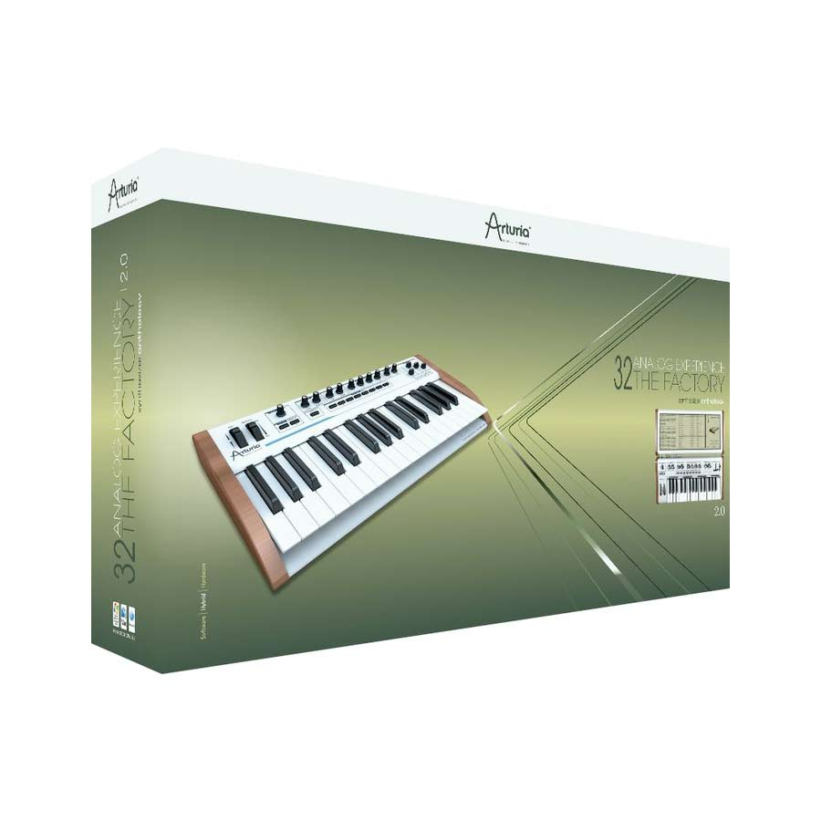 Arturia 25-Key Keyboard Analog Factory Experience + The One Bundle Box View