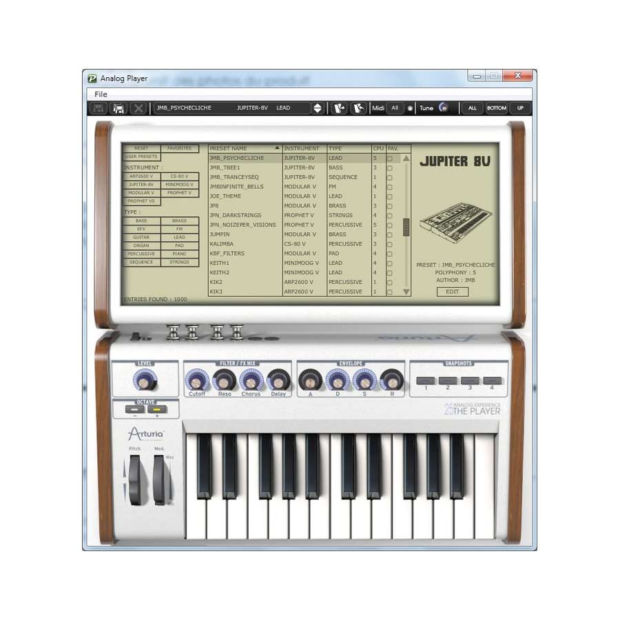 Arturia 25-Key Keyboard Analog Factory Experience + The One Bundle Software