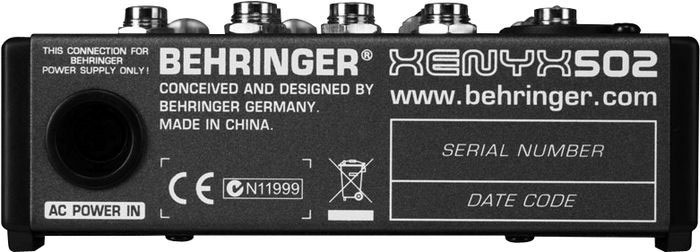 Behringer XENYX 502 Rear View