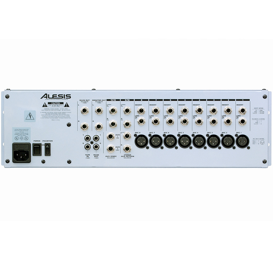 Alesis MultiMix 12R Rear View
