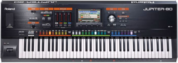 Roland Jupiter 80 Top View