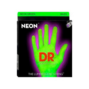 NGB-45 Neon Phosphorescent Bass Strings - Green