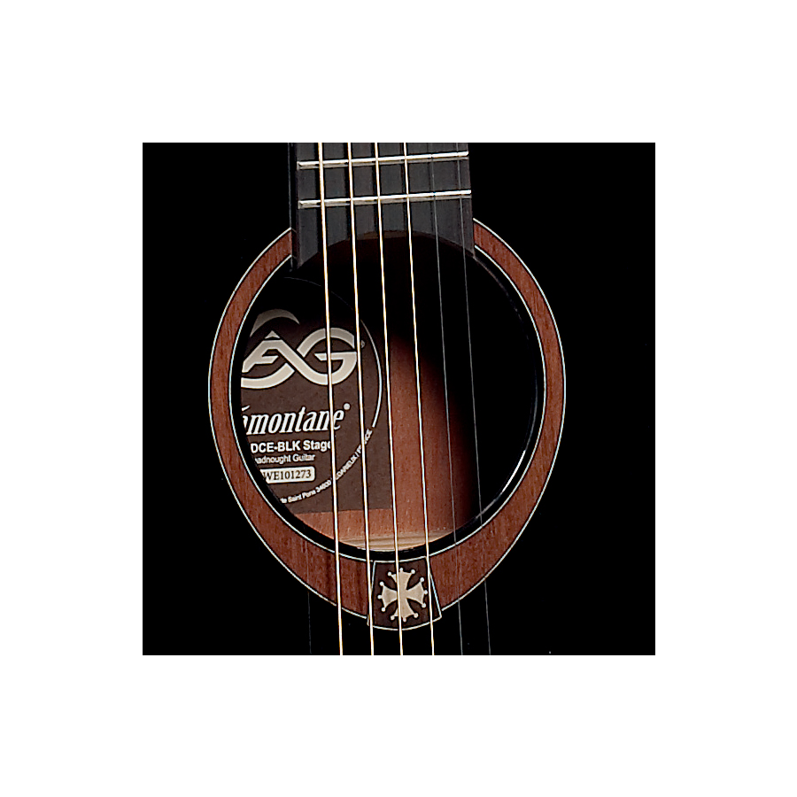 Lag T100DCE Natural Soundhole in Black