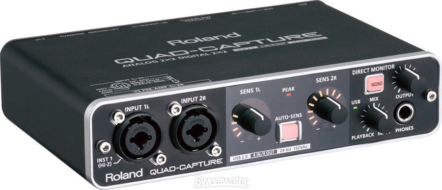 Roland Quad-Capture Angled View