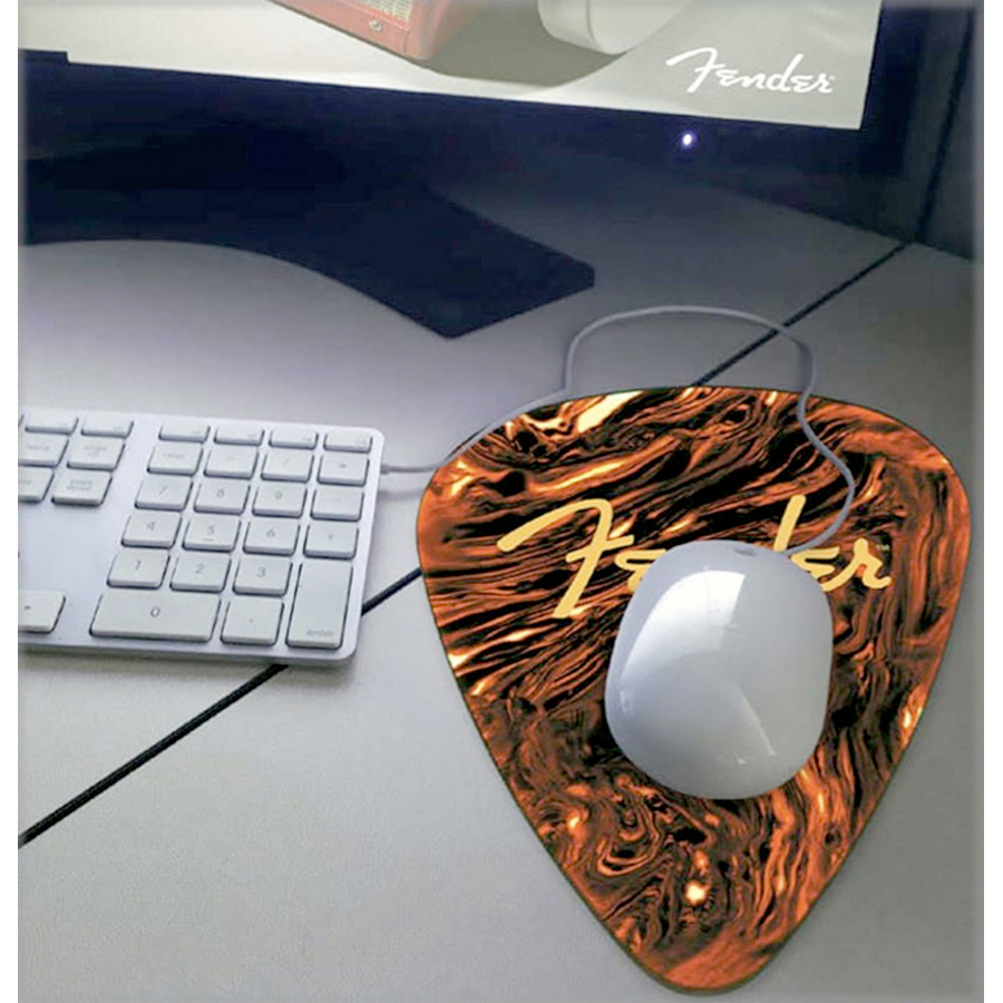 Fender Medium Pick Mouse Pad W/ Mouse