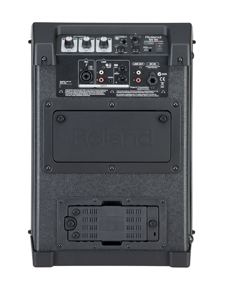Roland BA-55 Black Rear View