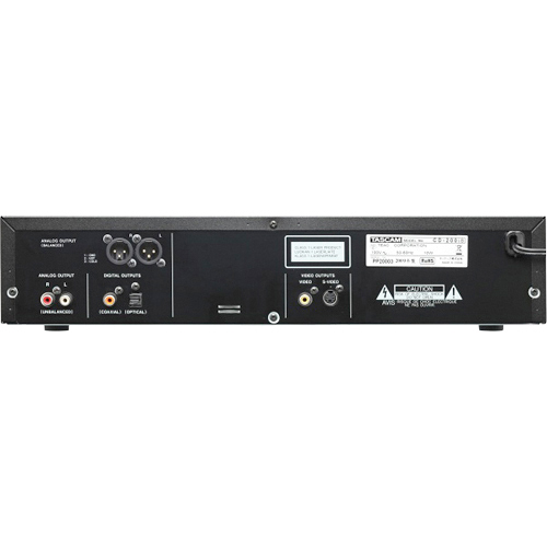 Tascam CD-200iB Rear View