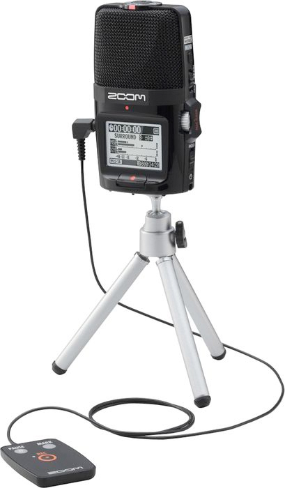 Zoom H2n Accessory Package Tripod and Remote (Recorder Not Included)
