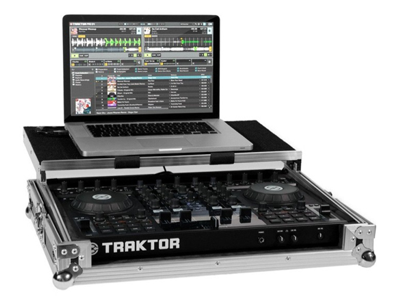 Native Instruments Traktor Kontrol S4 Flight Case Opened
