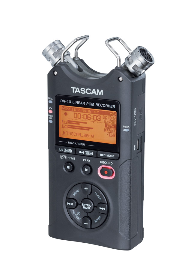 Tascam DR-40 Right Angle
