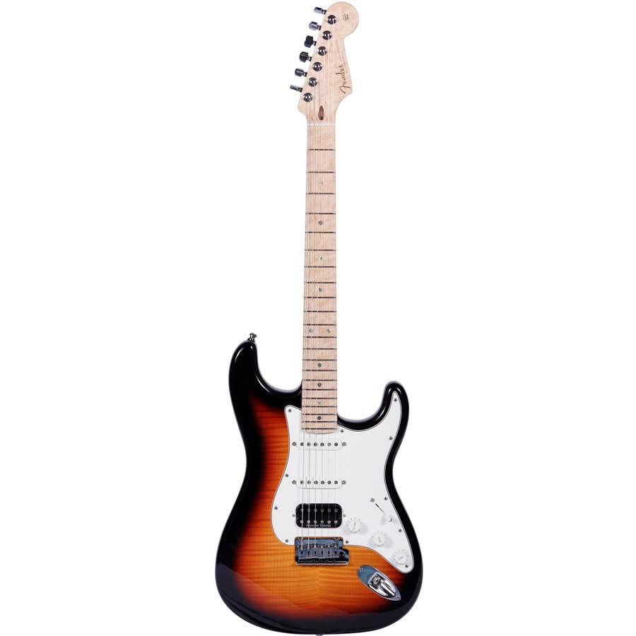 Custom Deluxe Stratocaster Faded 3-Color Sunburst