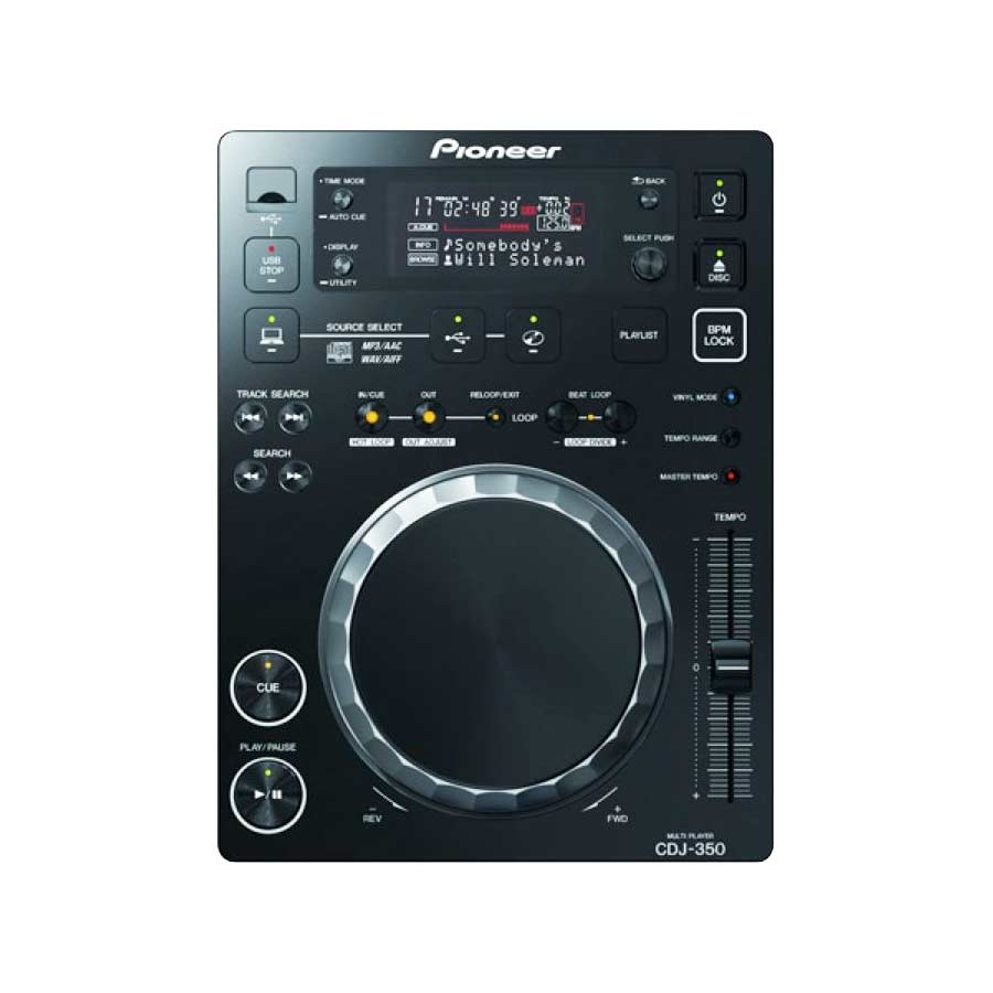 Pioneer CDJ-350 Large View Black
