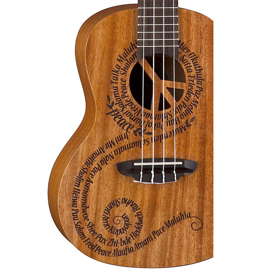 Luna Guitars Concert Ukulele - Peace Maluhia  Body Detail