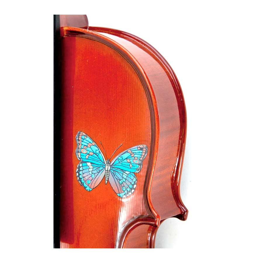Rozannas Violins Butterfly Dream Violin Outfit 4/4 Detail View