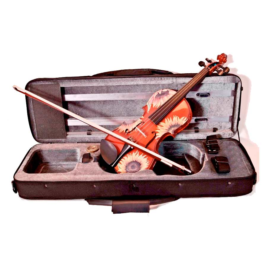 Rozannas Violins Sunflower Delight Standard Violin Outfit 1/2 w/ Case