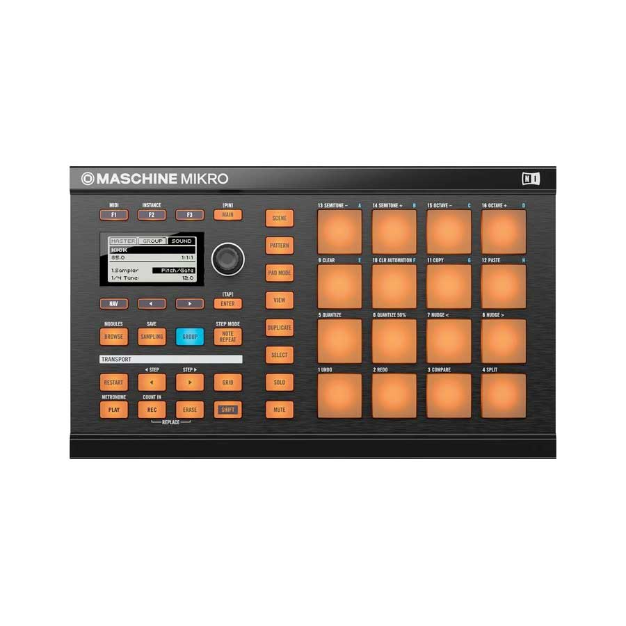 Native Instruments Maschine Mikro Top View