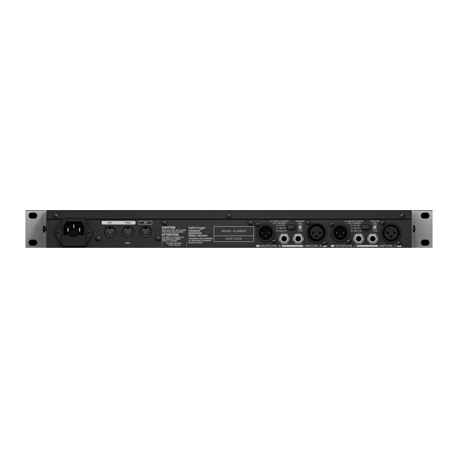 Behringer FBQ1000 - Rack Rear View