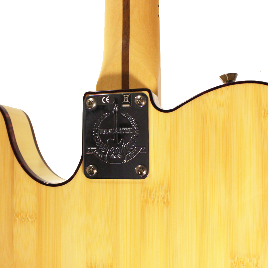Fender 60th Anniversary Lamboo Telecaster Natural Rear Detail
