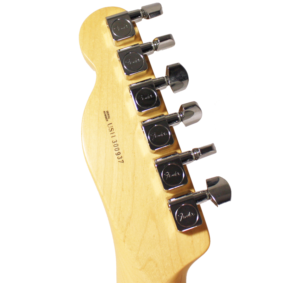 Fender 60th Anniversary Lamboo Telecaster Natural Rear Headstock Detail