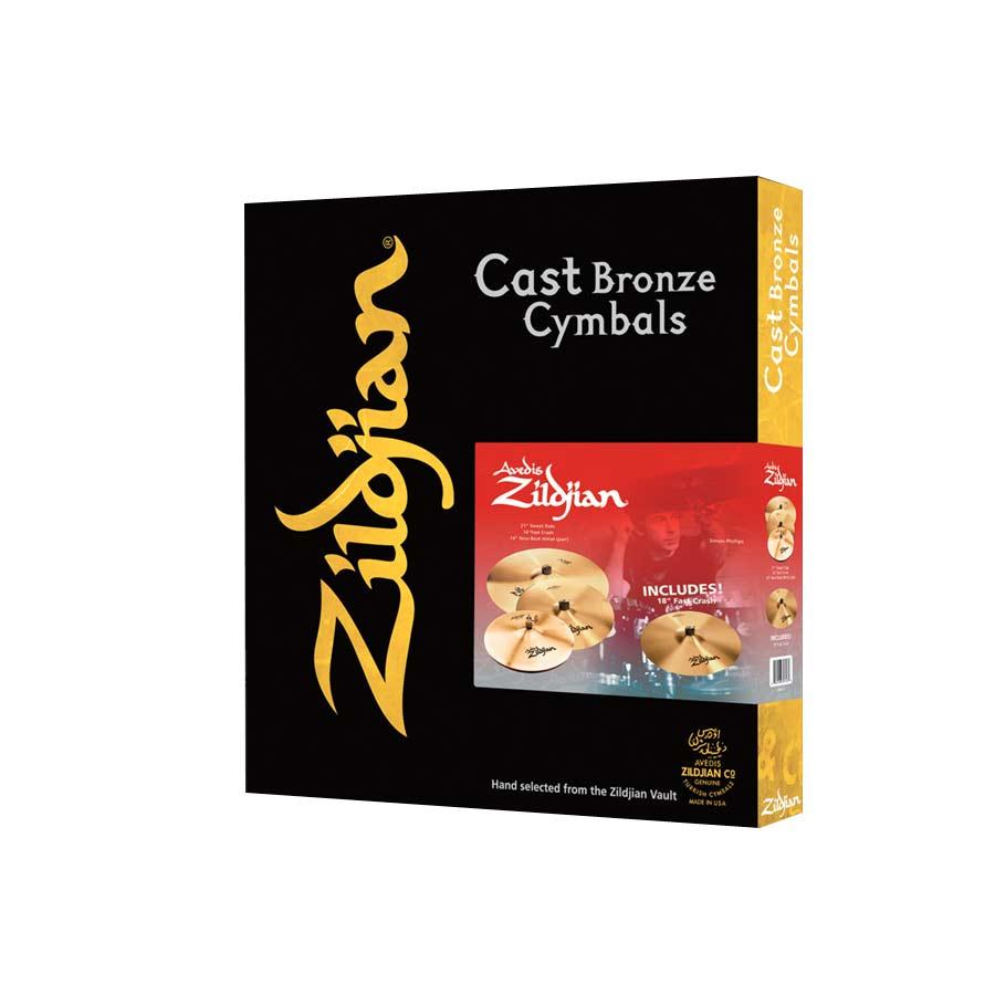 A Zildjian 4-Pack Cast Bronze Cymbals Matched Promo Box Set