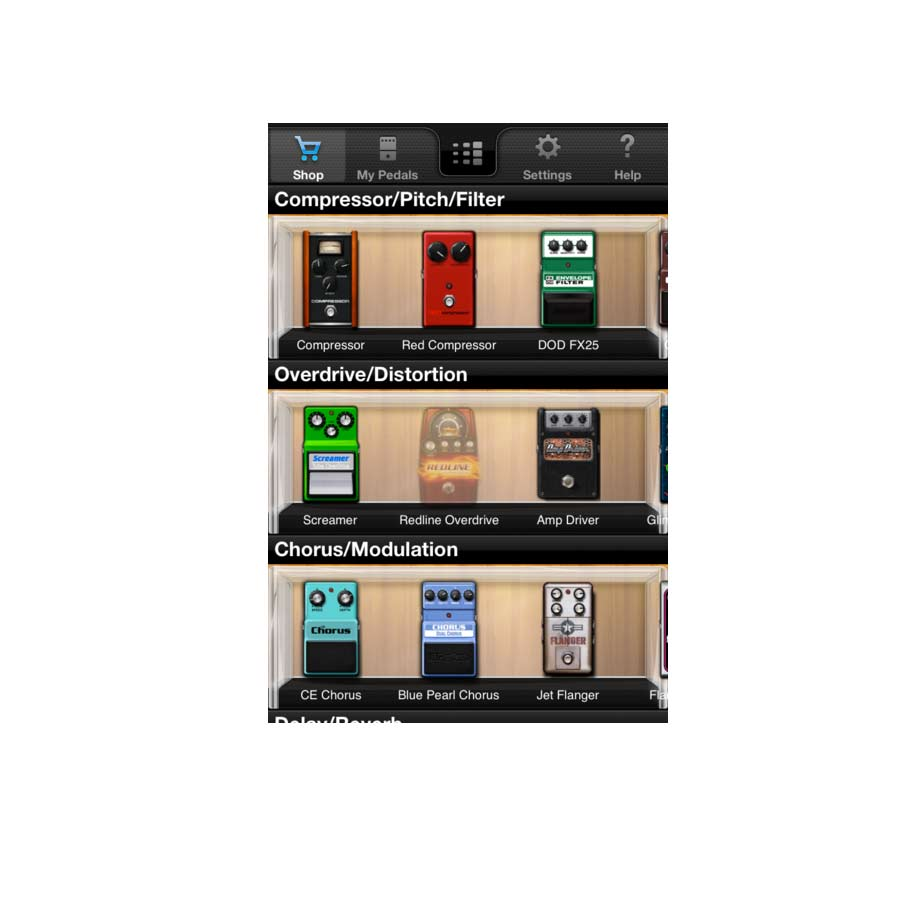 Digitech iStomp Pedal Ap Screenshot