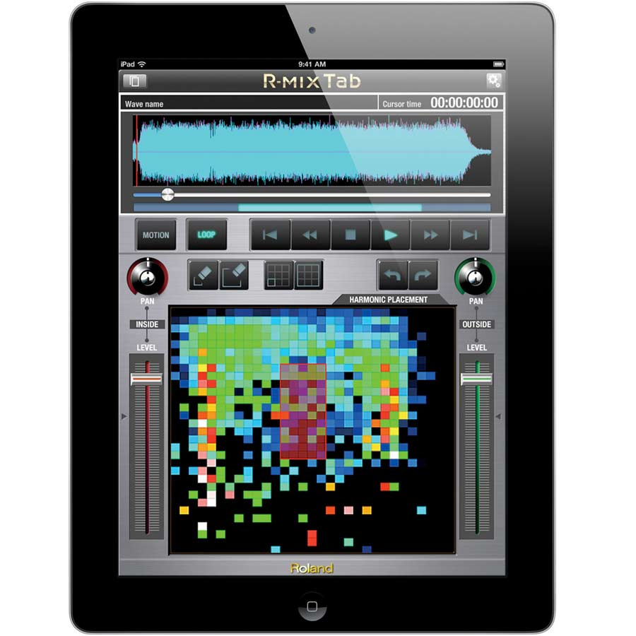 Roland R-Mix Ipad Screenshot