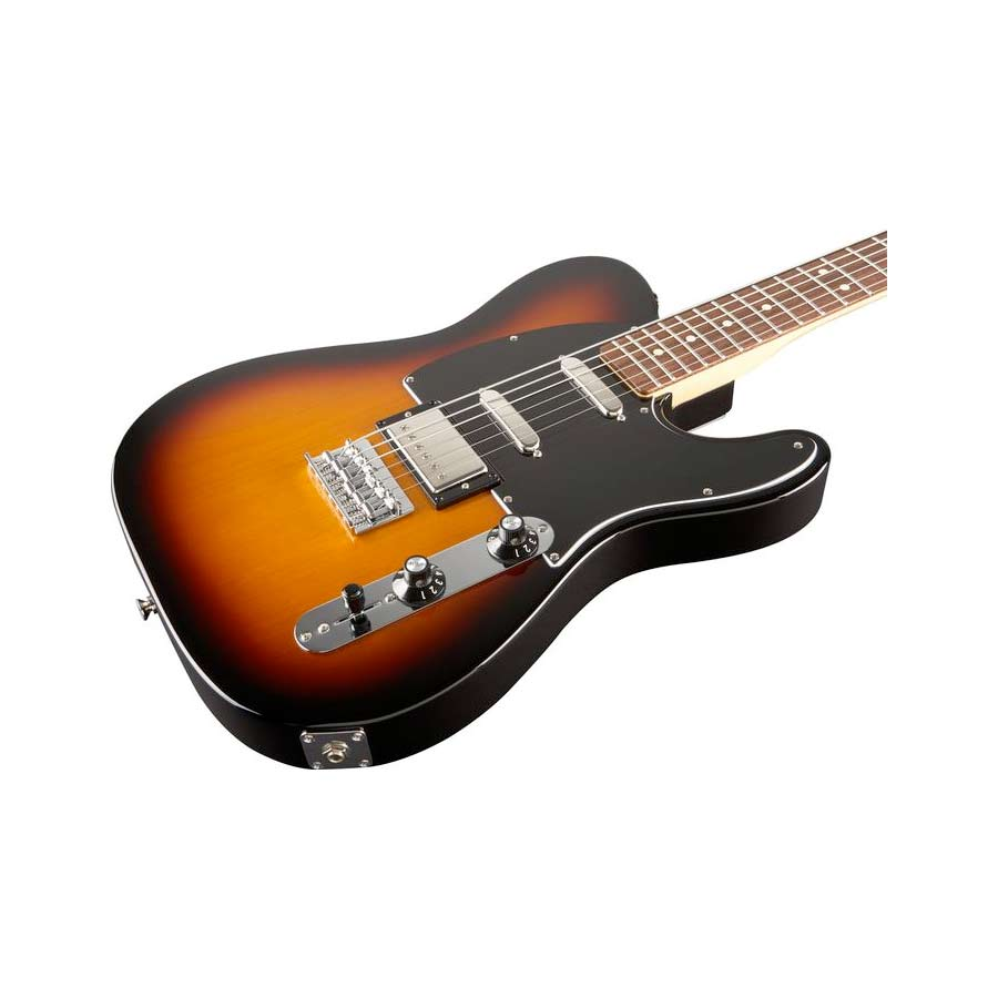 Fender Blacktop Baritone Telecaster 3-Tone SunburstBody Detail