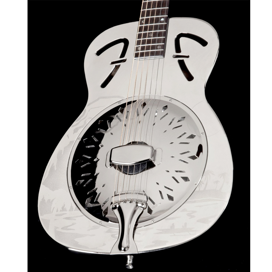 Fender FR-55 Hawaiian Resonator Angled Body View