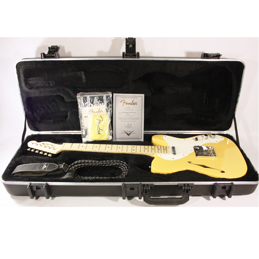 Fender Custom Shop 50's Thinline Telecaster NOS Nocaster Blonde Opened Case with Accessories
