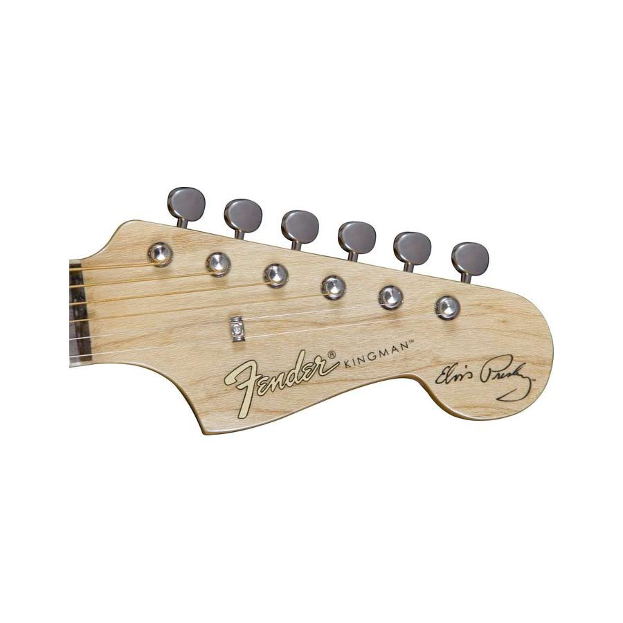 Fender Elvis Kingman Clambake Natural Headstock