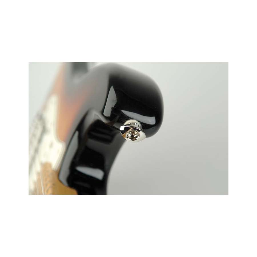 Planet Waves Elliptical End Pin Strap Button Black On Guitar