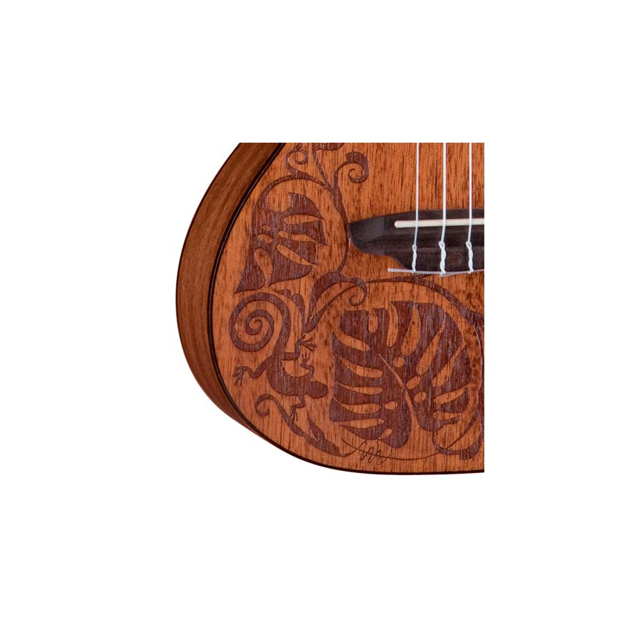Luna Guitars Mahogany Mo o Detail View